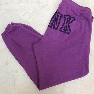PINK calf length drawstring sweatpants size medium